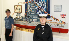 Ordinary Seaman Francis Campbell and Able Seaman Ethan Adams, both 13, are two of the younger members of Sarnia's Sea Cadet corps Repulse. The free cadet program is offered to young men and women aged 12 to 18. (CARL HNATYSHYN, Postmedia Network)