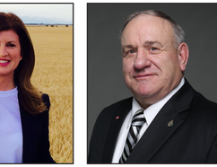 Rona Ambrose (left) and Jim Eglinski, both Conservative candidates, were re-elected by voters in the Sturgeon River-Parkland and Yellowhead ridings, respectively, during the 2015 federal election on Oct. 19.