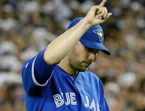 Marco Estrada of the Toronto Blue Jays leaves the game against the Kansas City Royals during Game 5 of the American League Championship Series at the Rogers Centre in Toronto, Ont. on Wednesday October 21, 2015. Craig Robertson/Toronto Sun/Postmedia Network