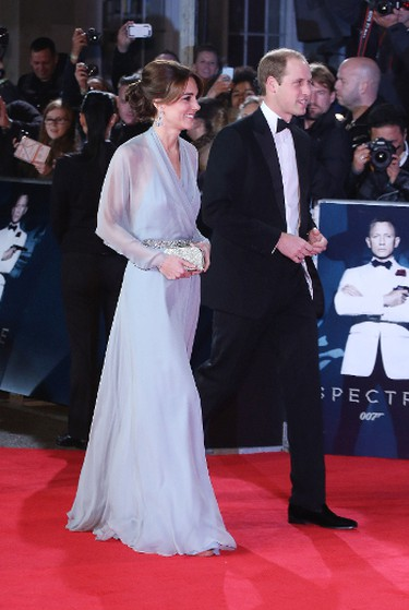 Duchess of Cambridge and Prince William arrives at the James Bond Spectre world premiere in London, Oct. 26. (Lia Toby/WENN.com)