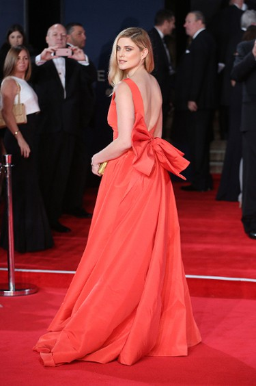 """Ashley James attends the world premiere of the new James Bond 007 film """"Spectre"""" at the Royal Albert Hall in London, Britain, October 26, 2015. (Lia Toby/WENN.com)"""