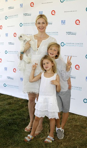 Kelly Rutherford and her son Hermes, eight, and daughter Helena, six. (Michael Carpenter/WENN.COM )