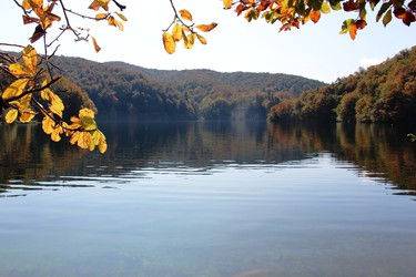Plitvice�s fabulous fall colours are mirrored in the parks 16 crystal-clear lakes. BRIAN QUINN PHOTO