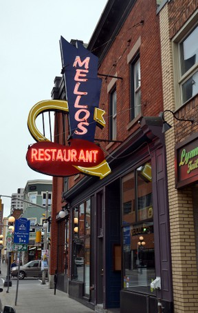 On Wednesday, Oct. 28, 2015 the sign of Mellos is still shining brightly on Dalhousie St., but that day may end soon. SAM COOLEY / Ottawa Sun