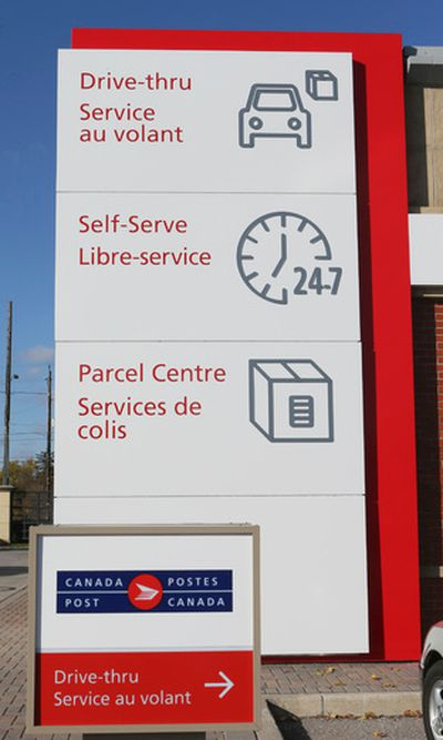 The grand opening for a new Canada Post office that  opens with a drive-thru, self serve areas for parcels and a change room for online shoppers on Thursday October 29, 2015 in Richmond Hill.Veronica Henri/Toronto Sun/Postmedia Network