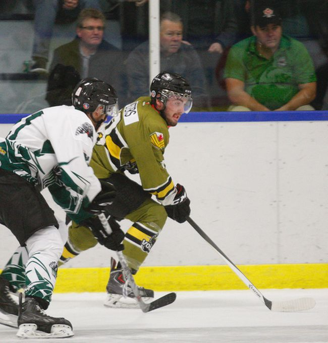 Powassan Voodoos forward Tyler Peters and crew are taking on the Blind River Beavers at the Sportsplex tonight at 7 p.m. On Sunday, they travel to Kirkland Lake. The team is on a 13-game winning streak and are ranked No. 1 in Canadian junior A hockey.