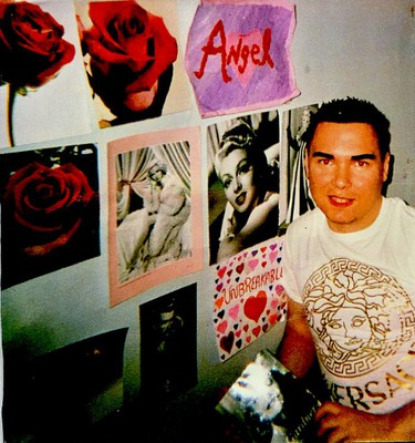 Posters and art plaster the walls of Luka Magnotta's new home in Archambault Institution.