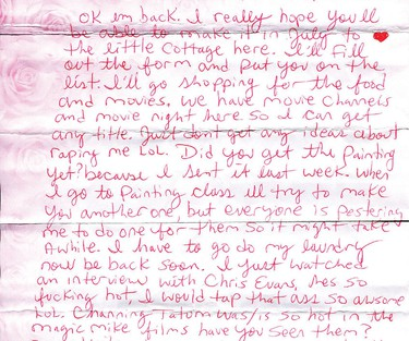 Luka Magnotta on visits from friends (May 9, 2015). Click here to read letter excerpt