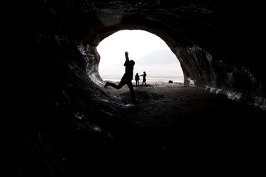 The sea caves in St. Martin, New Brunswick have been carved out by the massive Bay of Fundy tides but make sure you have time to get back on dry land before the tide comes back in. David Lazzarino/Edmonton Sun