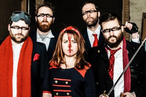 The Montreal band Lakes of Canada is scheduled to perform Nov. 27 at Paddy Flaherty's in Sarnia. The band recently released its second album, Transgressions, inspired by Margaret Atwood's novel The Handmaid's Tale. (Handout/Sarnia Observer/Postmedia Network)