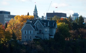 The prime minister's residence, 24 Sussex, is seen on the banks of the Ottawa River in Ottawa on Monday, Oct. 26, 2015. (THE CANADIAN PRESS/Sean Kilpatrick)