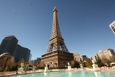 The pool at Planet Hollywood has a great view of the Eiffel Tower. (Jim Byers/Special to Postmedia Network)