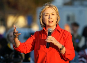 Democratic presidential candidate Hillary Rodham Clinton speaks during a town hall meeting Tuesday, Nov. 3, 2015, in Coralville, Iowa. (AP/Charlie Neibergall)