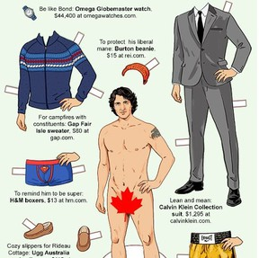 Thanks to New York Magazine, you can play dress-up with Prime Minister Justin Trudeau. SCREEN GRAB/NEW YORK MAGAZINE.COM