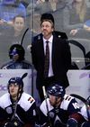 <p>Nov 6, 2015; Denver, CO, USA; Colorado Avalanche head coach Patrick Roy looks up late in the third period agains the New York Rangers at Pepsi Center. The Rangers defeated the Avalanche 2-1. Mandatory Credit: Ron Chenoy-USA TODAY Sports