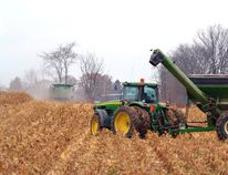 With what could be a record harvest season for corn yields nearly over, farmers rushed to get the last of their corn off the fields last week before the rain and foul weather November is best known for began. GALEN SIMMONS/MITCHELL ADVOCATE