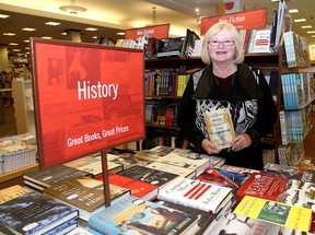 Sherry Pringle, author of Extraordinary Women Extraordinary Times at the Chapters store in Kingston. Ian MacAlpine /The Kingston Whig-Standard/Postmedia Network