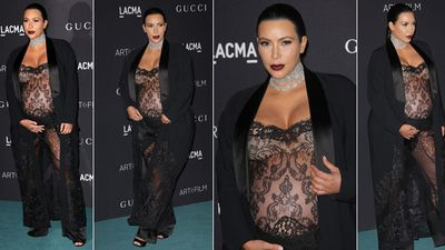 "Kim Kardashian took racy to another level once again wearing Givenchy to the LACMA 2015 Art+Film gala, November 9. (FayesVision/WENN.com)<div id=""pd_rating_holder_8275772""></div> <script type=""text/javascript""> PDRTJS_settings_8275772 = { ""id"" : ""8275772"", ""unique_id"" : ""default"", ""title"" : """", ""permalink"" : """" }; (function(d,c,j){if(!document.getElementById(j)){var pd=d.createElement(c),s;pd.id=j;pd.src=('https:'==document.location.protocol)?'https://polldaddy.com/js/rating/rating.js':'http://i0.poll.fm/js/rating/rating.js';s=document.getElementsByTagName(c)[0];s.parentNode.insertBefore(pd,s);}}(document,'script','pd-rating-js')); </script>"