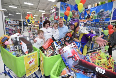 Five-year-old Max had the shopping trip of a lifetime Tuesday morning. The little boy -- who had eight holes repaired in his heart and over 20 surgeries to repair scarring in his trachea -- had five minutes in Toys 'R' Us to fill his cart with anything and everything he wanted as part of The 3-Minute Dash.