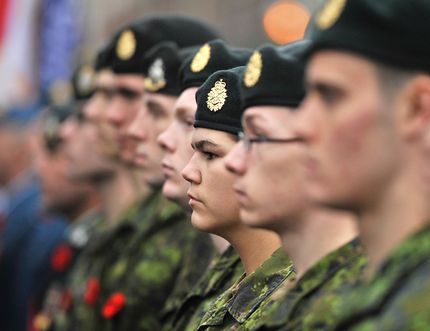 Members of the Canadian Armed Forces. MARK WANZEL/FILE PHOTO