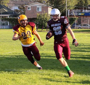 The Regiopolis-Notre Dame Panthers and the Frontenac Falcons meet in the Kingston Area senior AAA football final Saturday at Loyalist Collegiate. Kickoff time is 1:30 p.m. (Whig-Standard file photo)