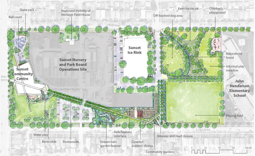 Proposed changes at Sunset Park. SUBMITTED
