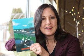 Rosanna Micelotta Battigelli is one of 13 authors featured in Latitude 46 Publishing's first publication, Along the 46th. A celebration was held to mark the occasion in Sudbury, Ont. on Saturday November 14, 2015. John Lappa/Sudbury Star/Postmedia Network