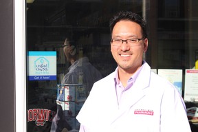 John Chang, chief pharmacist at Pharmasave in Norwich, is an advocate of shopping local. Pharmasave is participating in the Buy Close By campaign, a pilot project in Norwich Township. (MEGAN STACEY, Sentinel-Review)