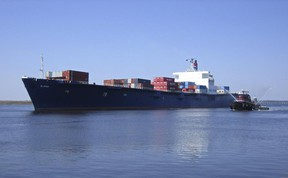 This handout file photo provided by TOTE Maritime shows the container ship El Faro. (AFP PHOTO/HANDOUT/TOTE MARITIME)