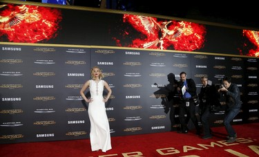 """A selection of photos from the premiere of """"The Hunger Games: Mockingjay - Part 2"""" in Los Angeles, California November 16, 2015. The movie opens in North America on November 20.  REUTERS/Mario Anzuoni"""