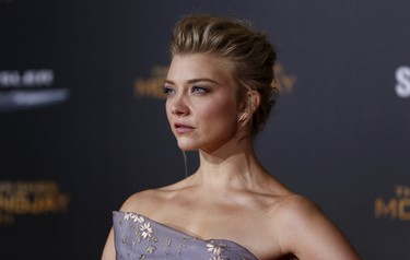 """Cast member Natalie Dormer poses at the premiere of """"The Hunger Games: Mockingjay - Part 2"""" in Los Angeles, California November 16, 2015. The movie opens in North America on November 20.  REUTERS/Mario Anzuoni"""