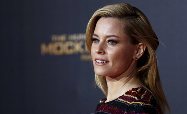 """Cast member Elizabeth Banks poses at the premiere of """"The Hunger Games: Mockingjay - Part 2"""" in Los Angeles, California November 16, 2015. The movie opens in North America on November 20.  REUTERS/Mario Anzuoni"""