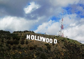 The Hollywood sign is shown in Hollywood, California in this December 13, 2009 file photo. Hollywood has not meaningfully increased the number of minority characters on the big screen and Hispanics were the most underrepresented in films, a study released on August 4, 2014 said. REUTERS/Fred Prouser/Files