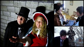 A collage of scenes from Anthony D.P. Mann's film adaptation of A Christmas Carol. (Supplied photo)