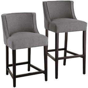 A bar stool has a 75-cm seat, while a counter stool is shorter, with a 66-cm seat.