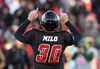 <p>Ottawa Redblacks kicker Chris Milo celebrates a field goal during second half action against the Hamilton Tiger-Cats in the CFL East Division final in Ottawa, Sunday November 22, 2015. THE CANADIAN PRESS/Sean Kilpatrick