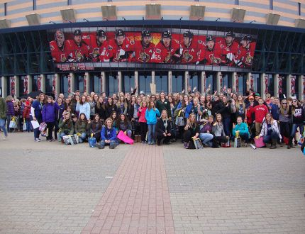 Submitted photo <br> Ninety-seven students from Bishop Smith Catholic High School in Pembroke attended this year's We Day celebration at the Canadian Tire Centre in Ottawa on Nov. 10.