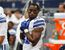 In this Sept. 27, 2015, file photo, Dallas Cowboys' Joseph Randle stands in the team bench area during an NFL football game against the Atlanta Falcons, in Arlington, Texas.  (AP Photo/Brandon Wade, File)