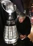 Terry Jones with the Grey Cup, September 13, 2012.