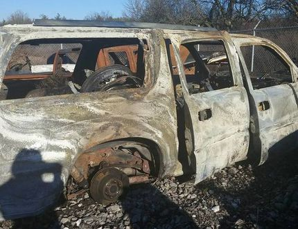 Both the Gardecki family vehicle and the wheelchair inside it were destroyed