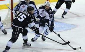 Defenceman Jay Harrison (right) will return to the lineup after missing seven games.
