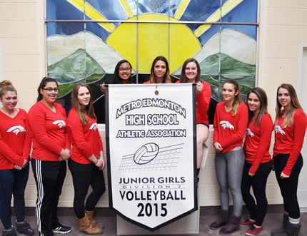 Christ The King's junior girls volleyball team captured the Junior Girls Division 2 Championship on Nov. 14 for the second year in a row. They went on to play in the 2A zones and made it to semi finals. The team from left to right: Kendra Christenson, Bitsy Stoyan, Sydney Muncaster, Michelle Mathew, Vanessa Nelson, Katie Tritten, Katie Kinsella, Emma Hogue and Jessie Miller. Submitted