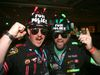 Regular Grey Cup attendees Corey Pusey (left) of Red Deer and Dave Hanni of Medicine Hat ham it up at the Riderville party as part of the Grey Cup Festival in Winnipeg. (BRIAN DONOGH/Postmedia Network)