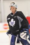 Garret Sparks during the Toronto Maple Leafs rookie camp in September 2014. (Stan Behal/Toronto Sun)