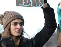 Ella Mornin attends a climate change demonstration in Sault Ste. Marie, Ont., on Sunday, Nov. 29, 2015. (BRIAN KELLY/THE SAULT STAR/POSTMEDIA NETWORK)