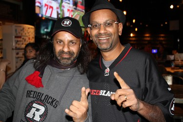 Sunday, Nov. 29, 2015 Ottawa -- Twin brothers Rob Joachim (left) and Len Joachim have been waiting 34 years to see Ottawa football team to get to where they are, they say. JULIENNE BAY/Ottawa Sun