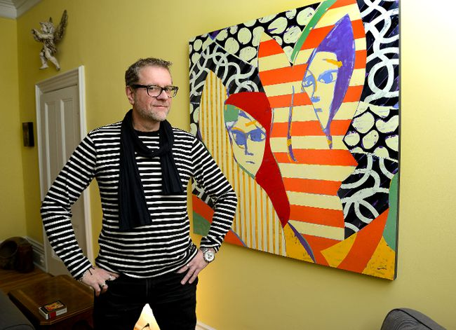 London-born artist Andrew Lewis has put down roots again in the Forest City after moving to the West Coast 20 years ago. (MORRIS LAMONT, The London Free Press)