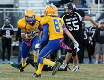 Bert Church Chargers football players Max Abraham (pictured) and Kaleb and Quinton D'Costa and St.Martin De porres' Anthony Eshiemomoh will be attending the Elite combine Series Alberta, in January. AIRDRIE ECHO FILE PHOTO