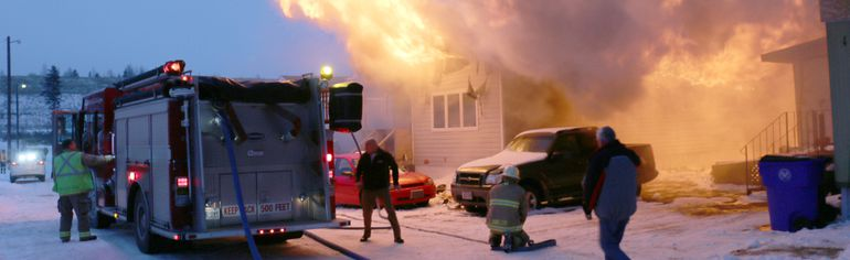 Fire has destroyed a mobile home at True North Estates, the former Shari-Dan trailer park on Pine Street South in Timmins. Fire broke around 4:30 p.m. Tuesday. There are no reports of any injuries.