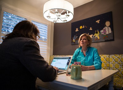 Carol Anne Meehan photographed at her home two weeks after being layed off from CTV Ottawa. Thursday December 3, 2015. Errol McGihon/Ottawa Sun/Postmedia Network